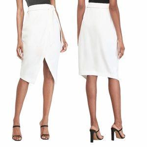 Express High Waisted Belt Wrap Front Pencil Skirt